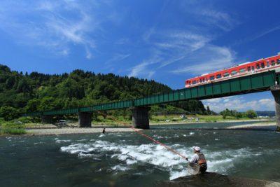 魚野川 鮎釣り