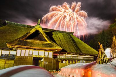 第12回【入賞】目黒邸と冬花火