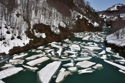 破間川渓谷 雪流れ